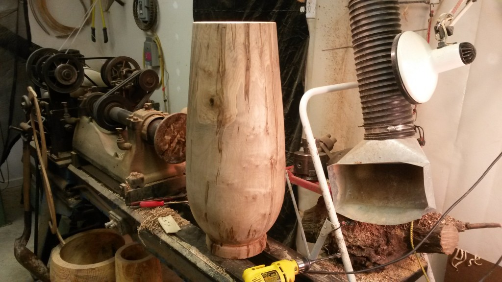 "Ambrosia Maple 13"" x 28"" in progress"