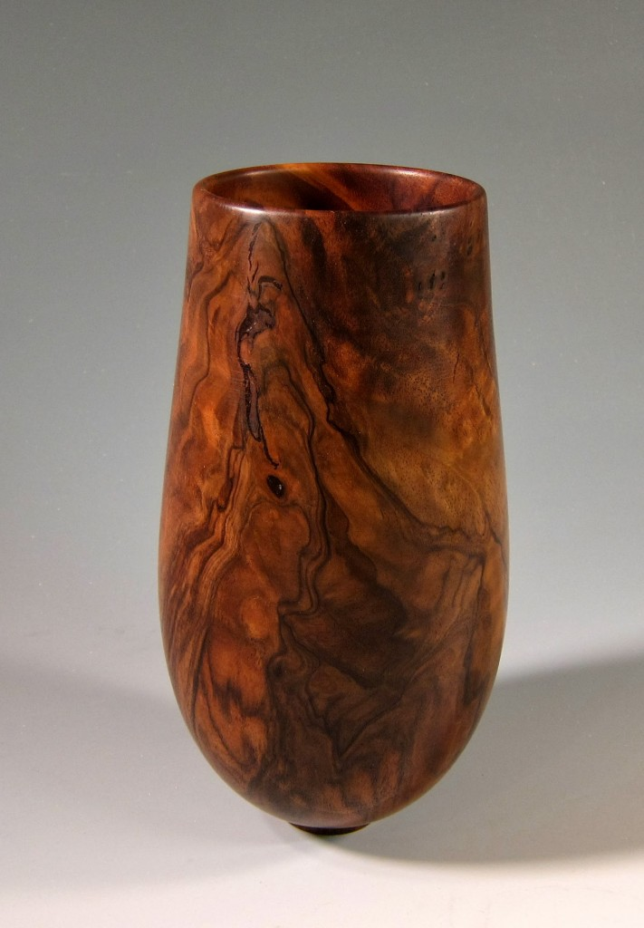 "Tall Walnut Vessel 5"" x 13"""