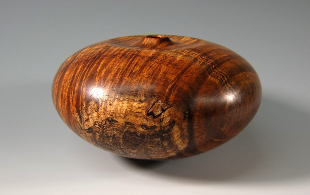 "Curly Koa Hollow Vessel 7"" x 4"""