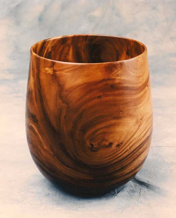 "Monkey Pod Bowl 16"" x 16"" - - 1996 Award - Woods of Hawaii Show"