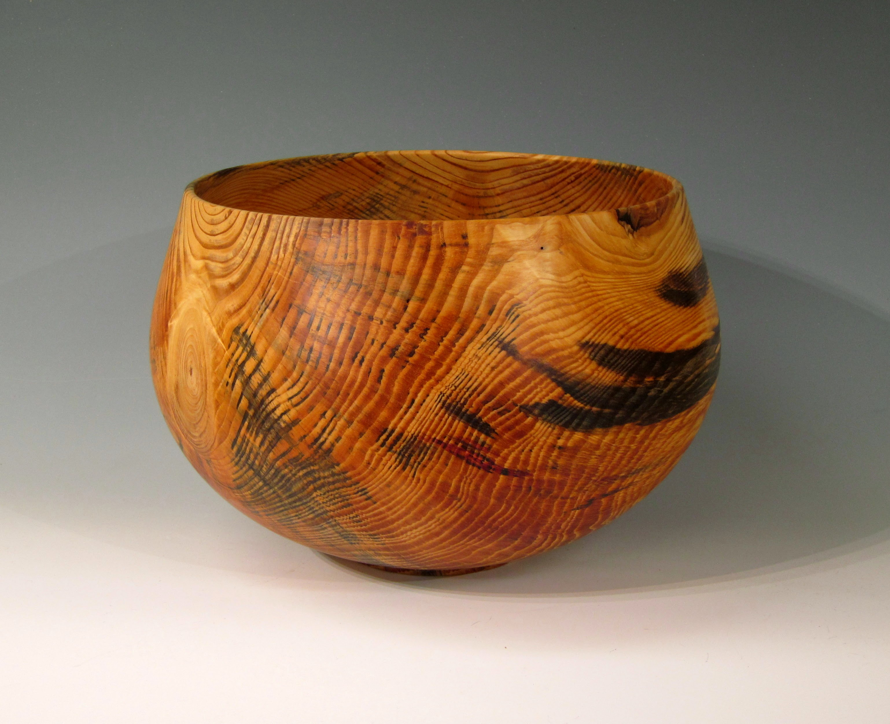 "Chris Boerner - Pine Bowl - Wood from Duke Forest, 19"" x 14"""