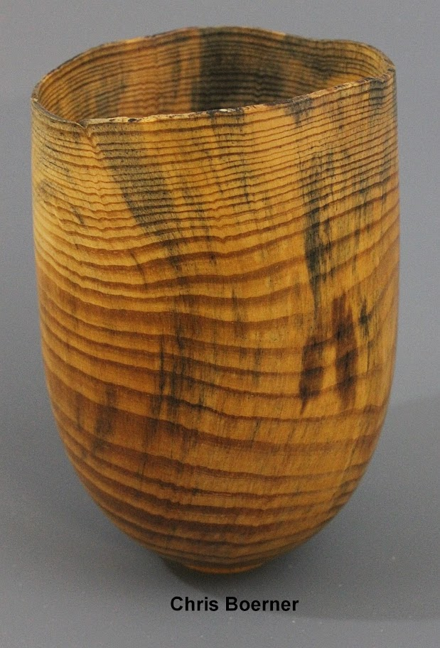Pine Bowl - Natural Edge - Wood from Duke Forest