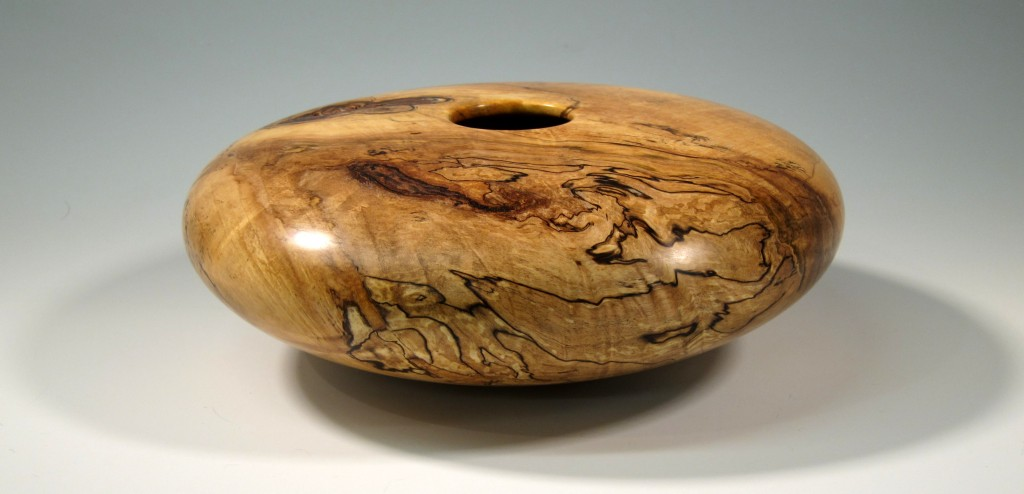 "Splalted Maple Hollow Vessel 12"" x 5"""